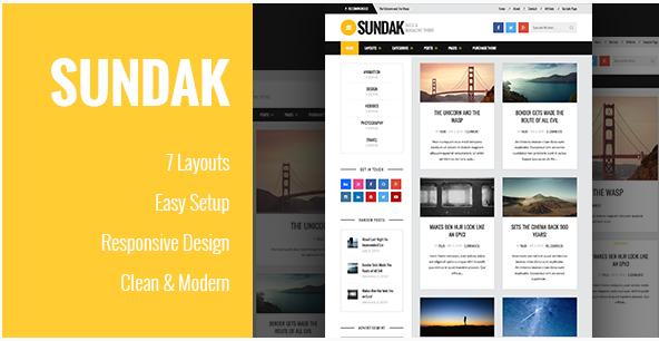 Sundak - Blog and Magazine Theme Best Magazine WordPress Themes wpshopmart