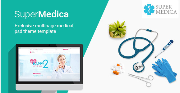Super Medica  Multipage Medical PSD Template