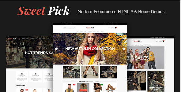 Sweet Pick  Modern E-commerce HTML Template