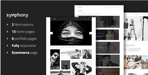 Symphony - Clean Photography & Portfolio Template
