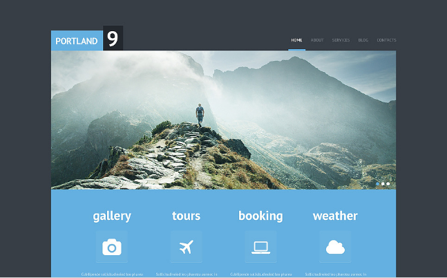 Travel Bootstrap Website Templates