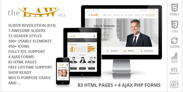 The Law - Lawyer Legal Attorney HTML5 Template