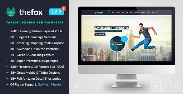 TheFox - Multi-Purpose PSD Template