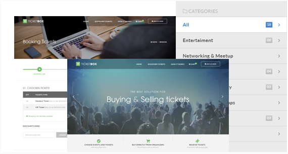 TicketBox - Event Tickets Management PSD