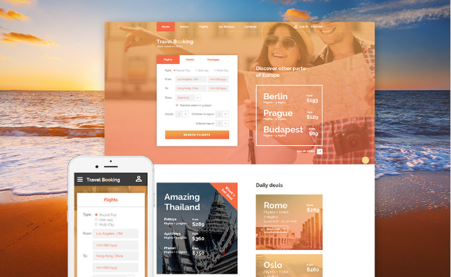 Travel Responsive Website Template new