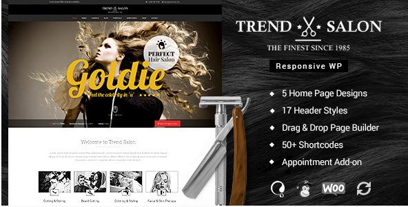 Trend Salon - Beauty Parlor, Hair Salon Theme