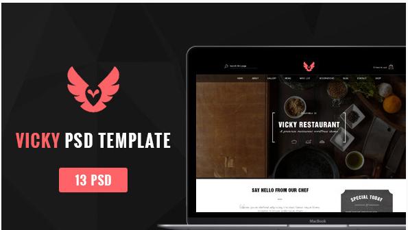 Vicky - Restaurant PSD Template