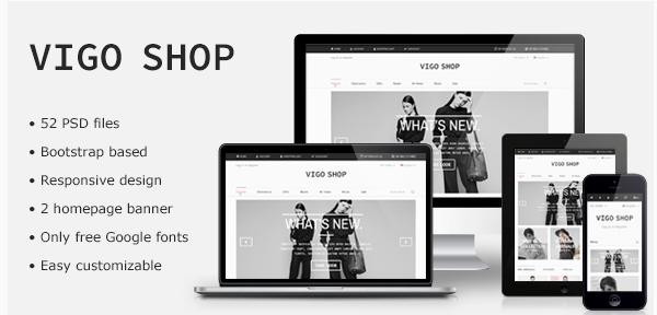Vigo Shop - Responsive Bootstrap eCommerce PSD
