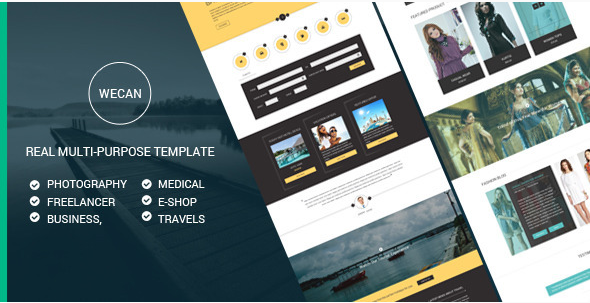 WeCan - Multi-Purpose PSD Template