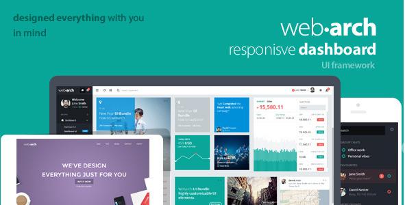 Webarch - Responsive Admin Dashboard Template