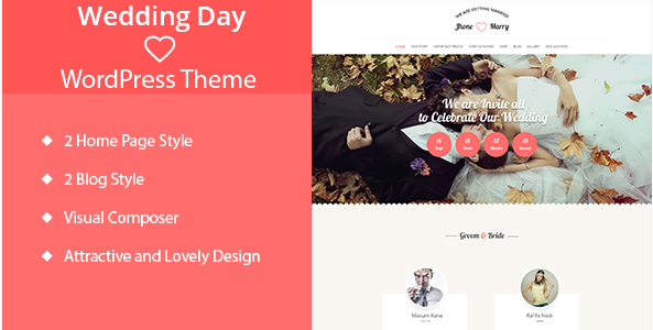 Wedding Day - Wedding WordPress Theme