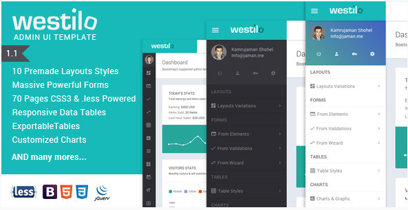 Westilo - Bootstrap Responsive Admin Template