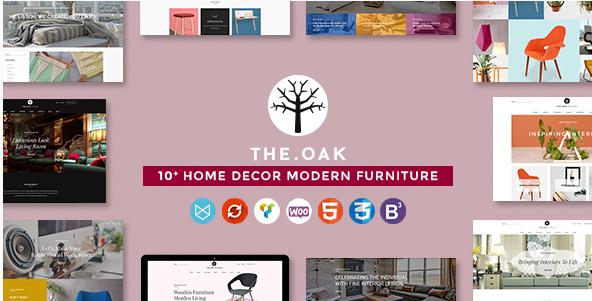 WordPress WooCommerce Theme for Furniture Decoration Design eCommerce Store  WP TheOak