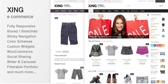 Xing - Business  ecommerce WordPress Theme