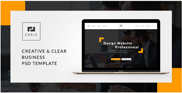 Zaria - A Beautiful & Smart Business PSD