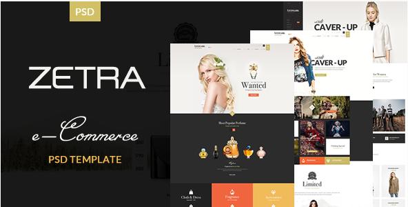 Zetra - eCommerce PSD Template