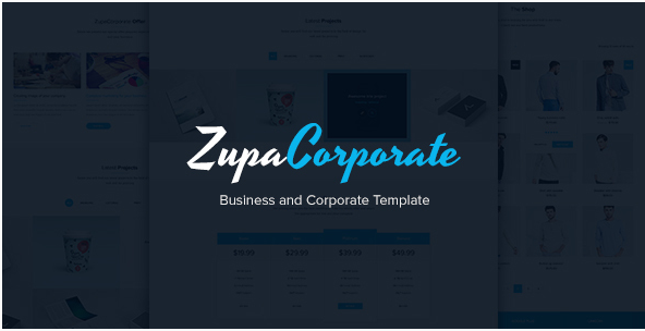 ZupaCorporate – Business and Corporate PSD Template