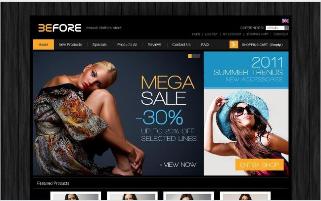 Best Premium Beauty Fashion ZenCart Templates