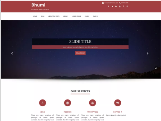 bhumi Free Law WordPress Themes