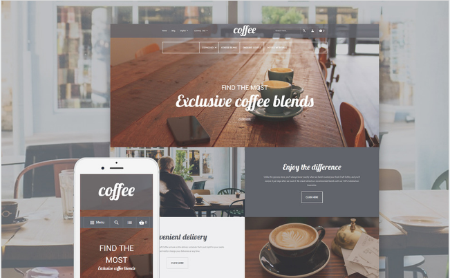 cofee Best Premium Shopping Magento Themes