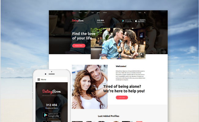 20+ Latest Dating Landing Page Templates of 2016