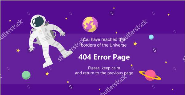 error page vector