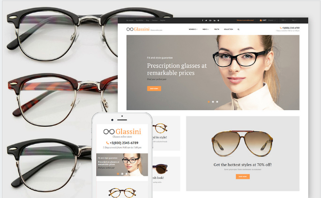 glassini Best Premium Shopping Magento Themes