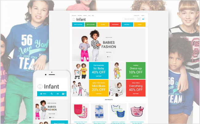 infant Best Premium Shopping Magento Themes