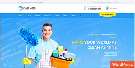 10+ Best Cleaning Company Wordpress Themes 2016