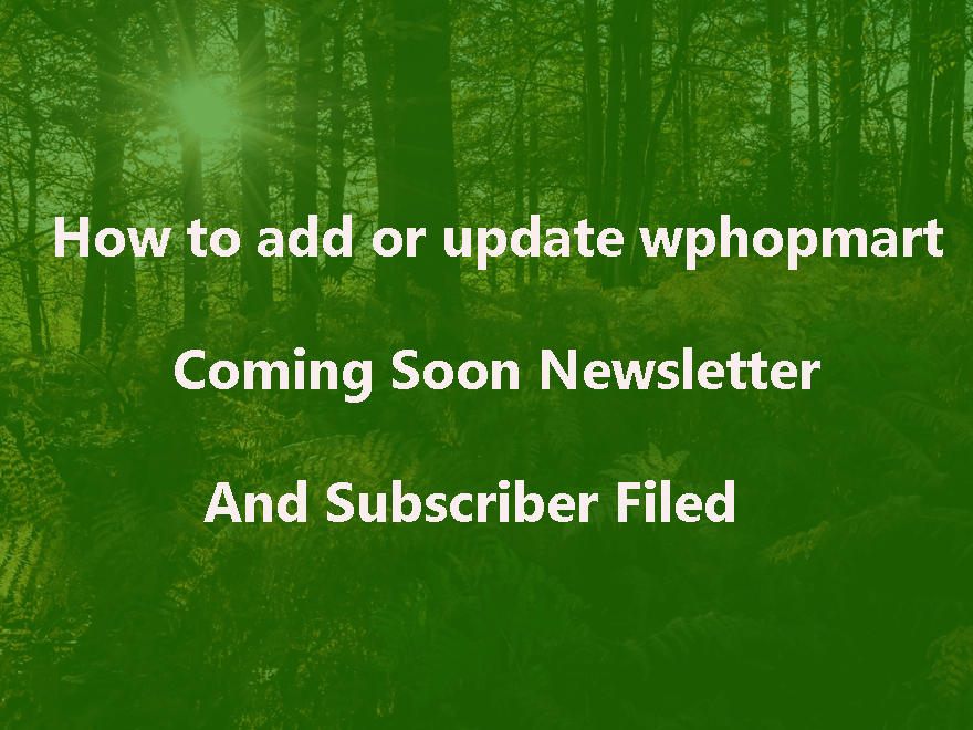 How To Add wpshopmart Coming Soon Pro Plugin Newsletter