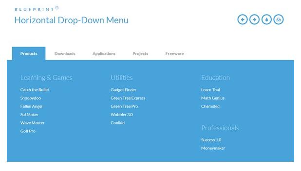 resp Free HTML5 CSS3 jQuery DropDown Menus