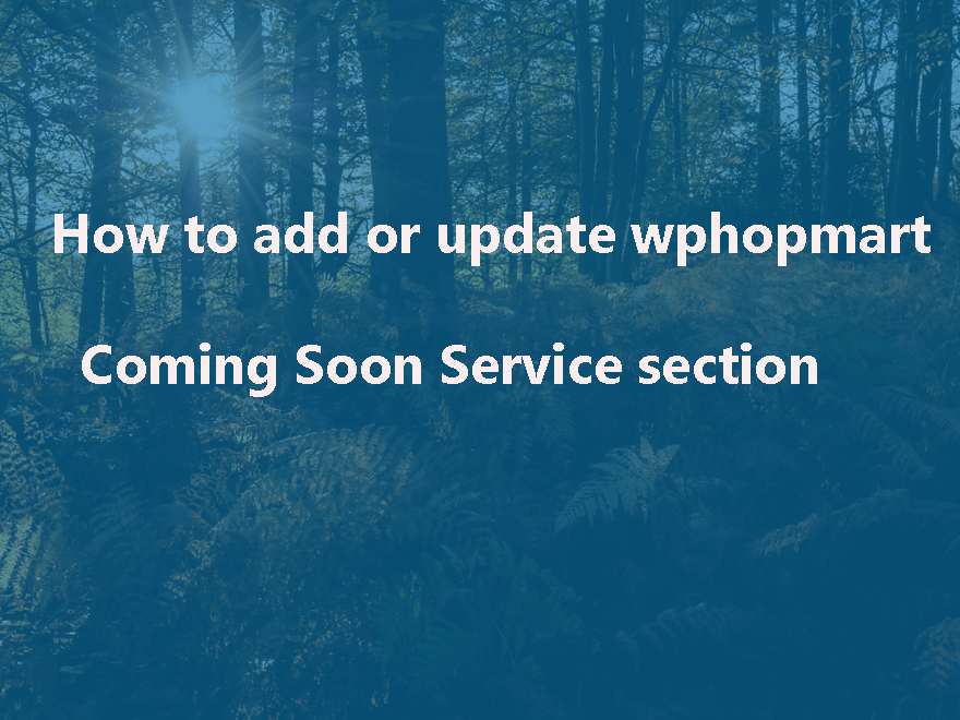 How To Change wpshopmart Coming Soon Pro Plugin Service section
