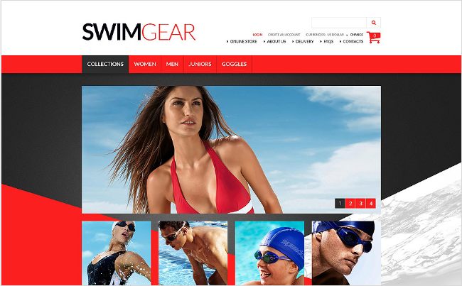 Sports Outdoors and Travel VirtueMart Templates