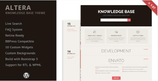 ALTERA Best WordPress Knowledge Base Themes
