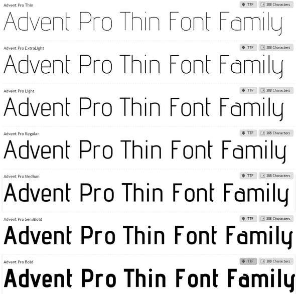 Advent-Pro-Font-Family