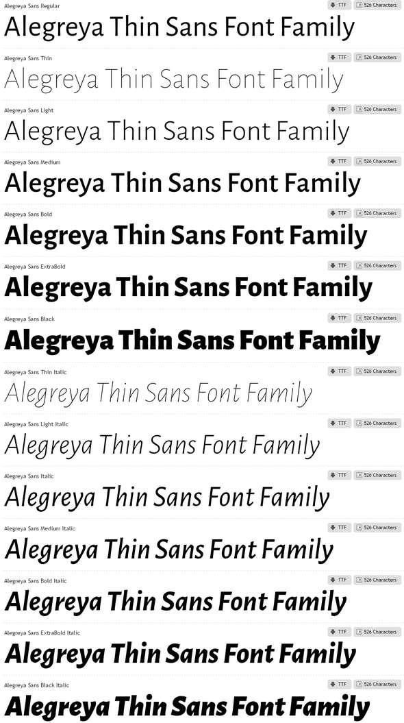 Alegreya-Sans-Font-Family
