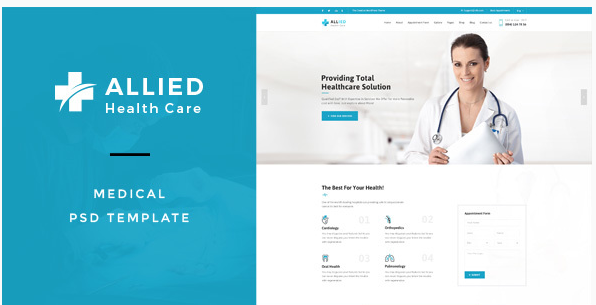 Allied Health Care  Medical PSD Template