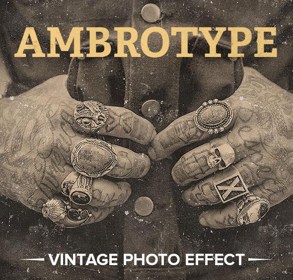 Ambrotype Vintage Photo Effect