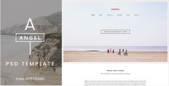 Angel - One Page PSD Template