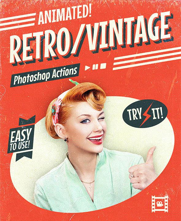 Animated Retro Vintage Film