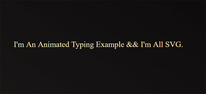 Animated Typing