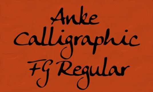Anke Calligraphic FG Regular