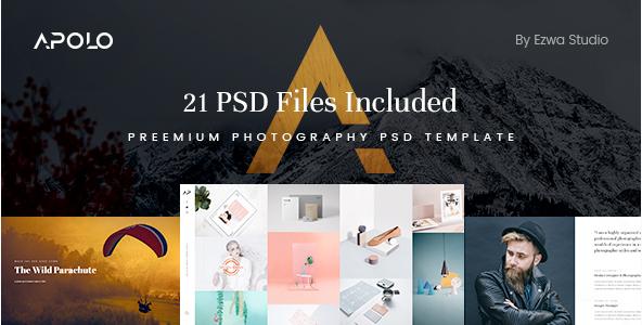 Apolo - Premium Photography & Portfolio PSD Template