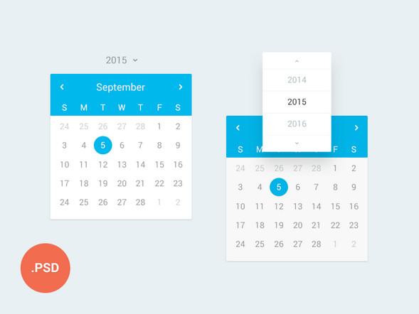 App PSD UI – Calendar
