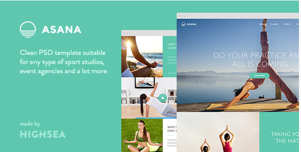Asana - Sport and Yoga PSD Template