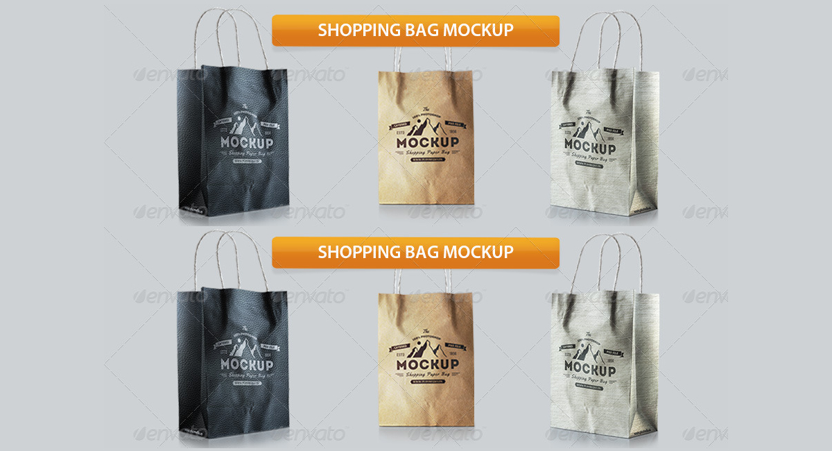 Beautiful Shopping Bag Mockup