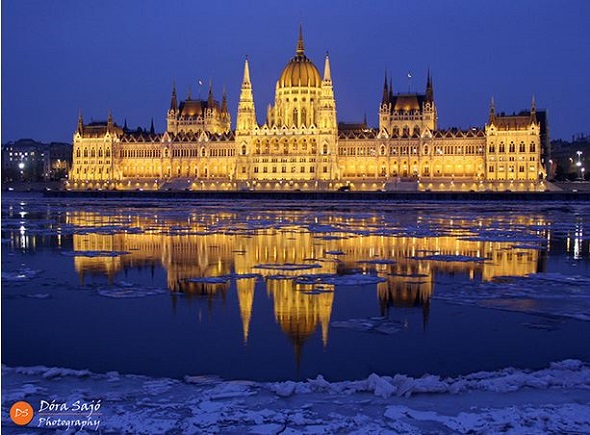 Budapest Parliament at dusk