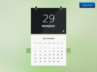 Calendar (PSD freebie!)