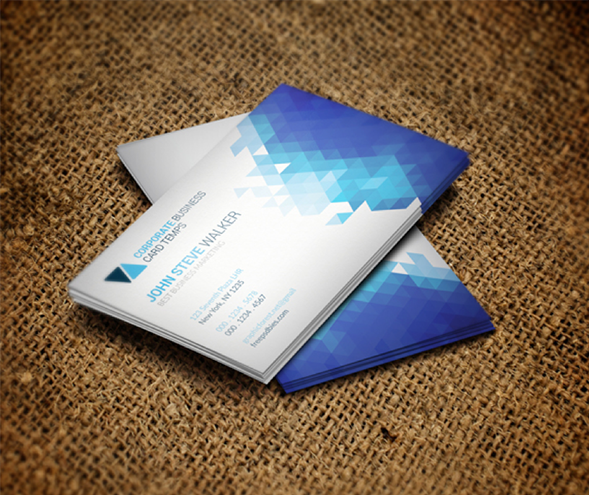 Clean Minimal Metro Style Business Card Template