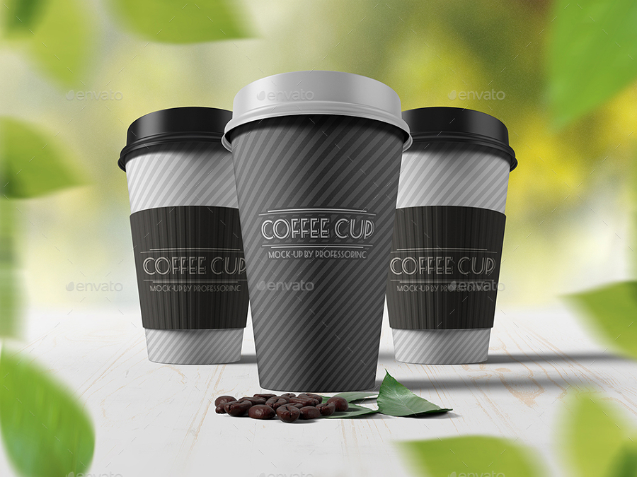 Coffe-Cup-Mockups-with-Leafs-on-Background